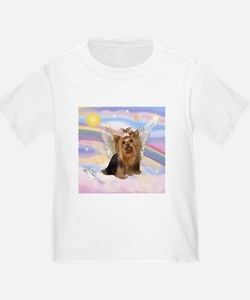 Yorkie Angel in Clouds T