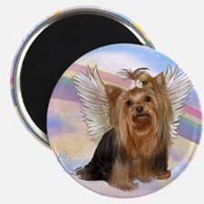 Yorkie Angel in Clouds Magnet