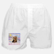 Yorkie Angel in Clouds Boxer Shorts