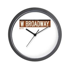 West Broadway in NY Wall Clock