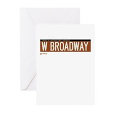 West Broadway in NY Greeting Cards (Pk of 10)