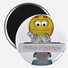 """Smiley Feline Massage 2.25"""" Magnet (100 pack)"""