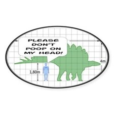 Please Don't Poop Oval Decal