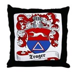 Trager Family Crest Throw Pillow