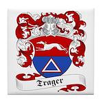 Trager Family Crest Tile Coaster