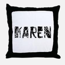 Karen Faded (Black) Throw Pillow