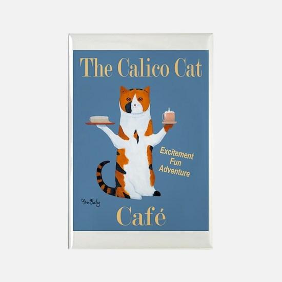 Calico Cat Café Rectangle Magnet