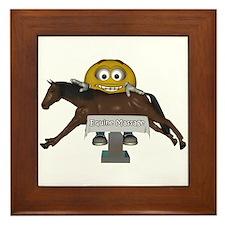 Smiley Equine Massage Framed Tile