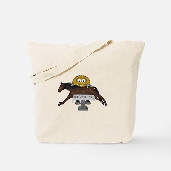 Smiley Equine Massage Tote Bag