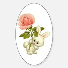 A Rose for Easter Oval Decal