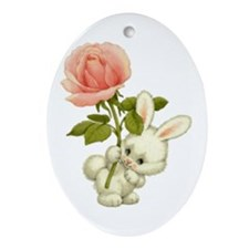 A Rose for Easter Oval Ornament