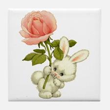 A Rose for Easter Tile Coaster