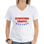 Retired Occupational Therapist Women's V-Neck T-Sh