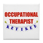 Retired Occupational Therapist Tile Coaster