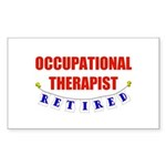 Retired Occupational Therapist Rectangle Sticker