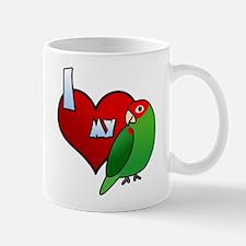 I Love My Cherry Headed Conure Mug (Cartoon)