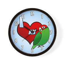 Love Cherry Headed Conure Clock