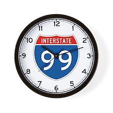 Interstate 99, USA Wall Clock
