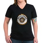 Supernatural University Women's V-Neck Dark T-Shir