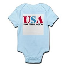 PROUD TO BE AN AMERICAN Infant Creeper