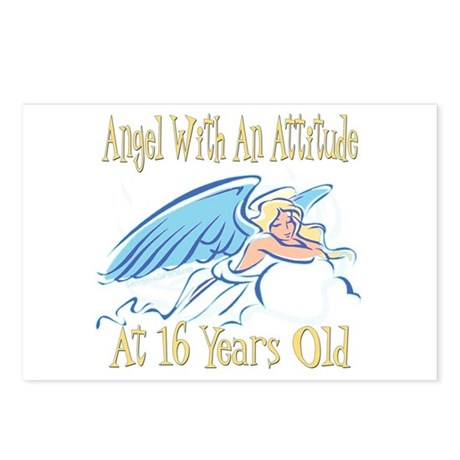 Angel Attitude 16th Postcards (Package of 8)