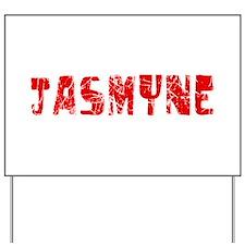 Jasmyne Faded (Red) Yard Sign