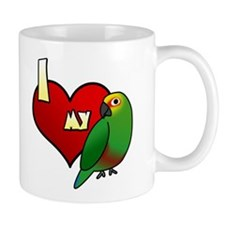 I Love my Golden-Capped Conure Small Mugs
