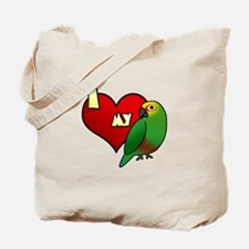 I Love my Golden-Capped Conure Tote Bag