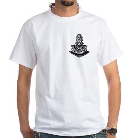 PM Square and Compass No. 1 White T-Shirt