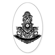 PM Square and Compass No. 1 Oval Decal