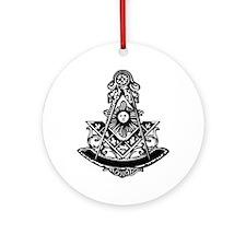 PM Square and Compass No. 1 Ornament (Round)