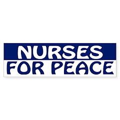 Nurses for Peace (bumper sticker)
