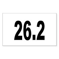 26.2 Marathon Rectangle Decal