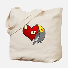 Love Male Gray Cockatiel Tote Bag