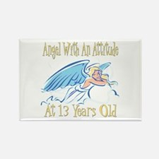 Angel Attitude 13th Rectangle Magnet