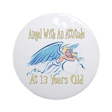 Angel Attitude 13th Ornament (Round)
