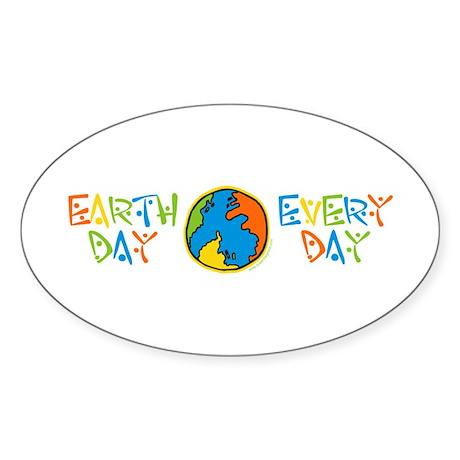 Earth Day Oval Sticker (50 pk)
