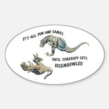 """Fun & Games"" Dryptosaurus Oval Decal"