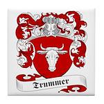 Trummer Family Crest Tile Coaster