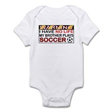 No Life Soccer Brother Infant Bodysuit
