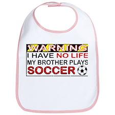 No Life Soccer Brother Bib