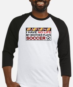No Life Soccer Brother Baseball Jersey