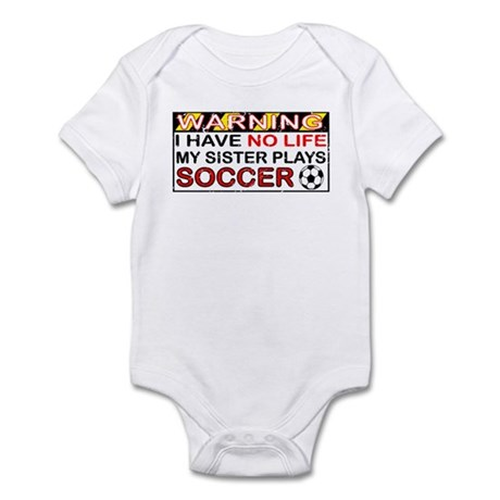 No Life Sister Soccer Infant Bodysuit