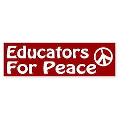 Educators for Peace bumper sticker