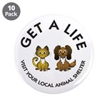 "Get a Life 3.5"" Button (10 pack)"