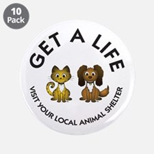 "Get a Life 3.5"" Button (10 pack)"