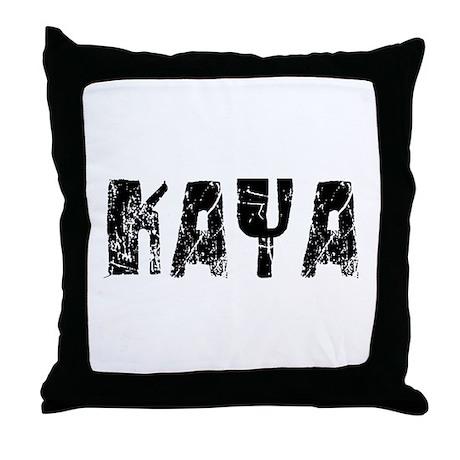 Kaya Faded (Black) Throw Pillow