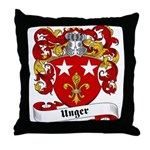 Unger Family Crest Throw Pillow