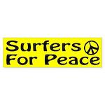 Surfers for Peace bumper sticker
