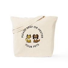 Spay or Neuter Tote Bag